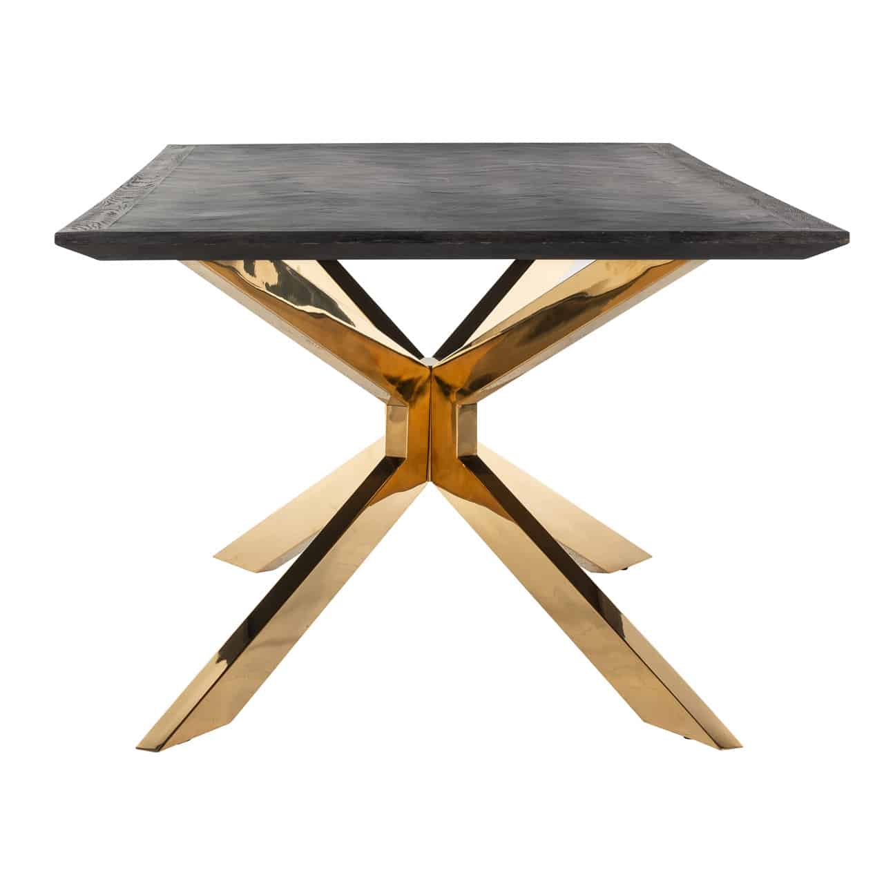 Dining Table Blackbone Matrix Gold 200x100