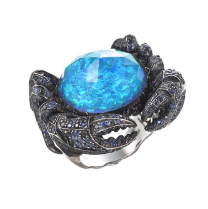Jewels Verne Crab Crystal Haze Ring