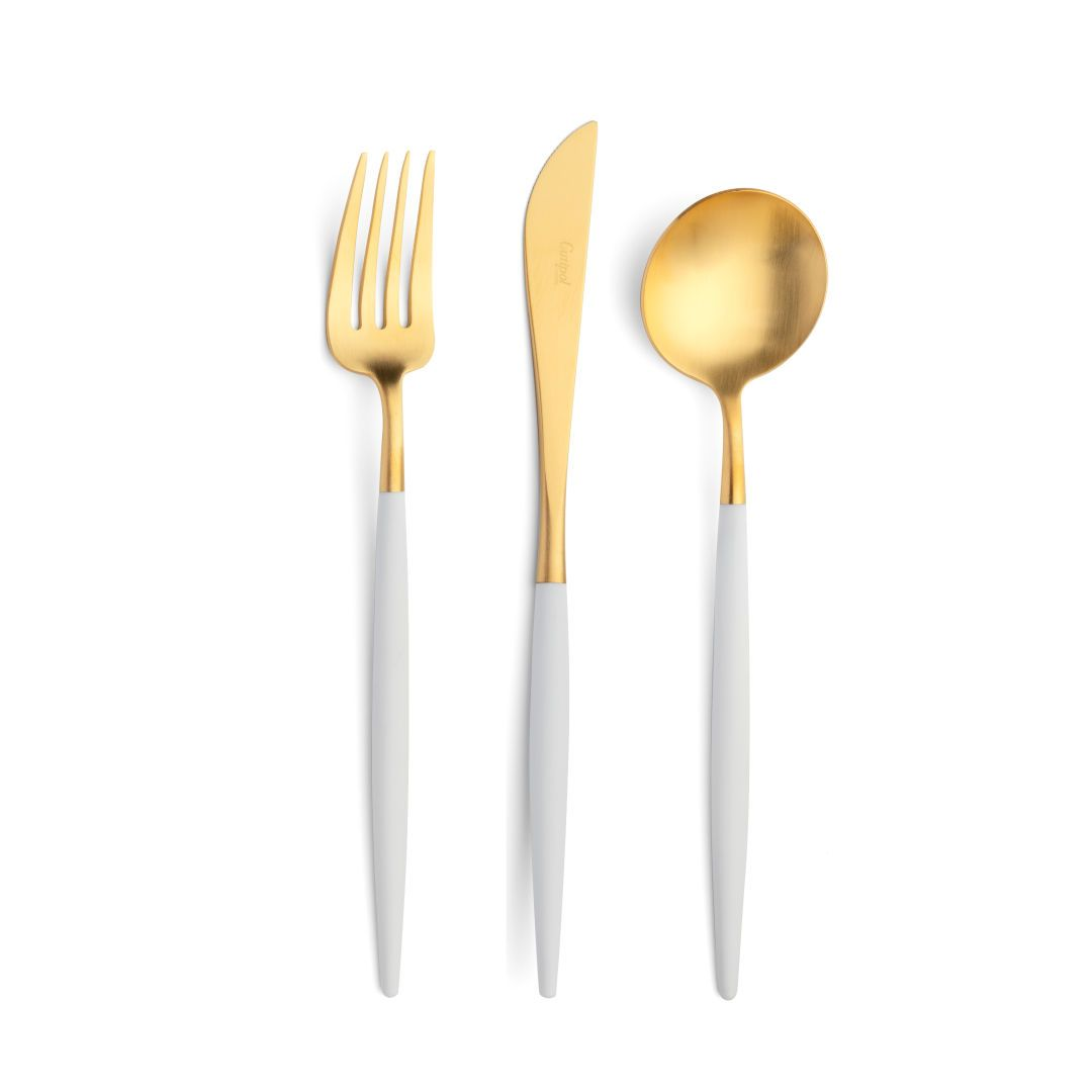 Cutipol - GOA Cutlery Set - White Gold