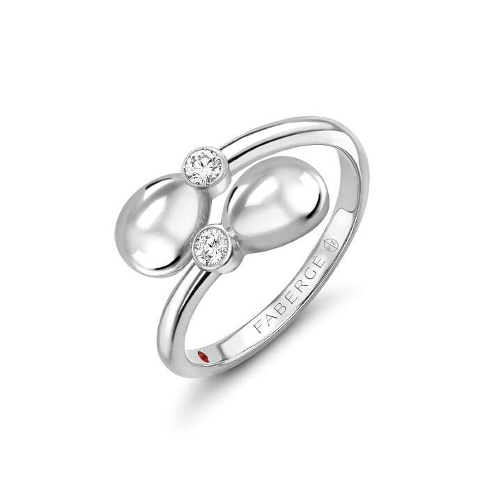Fabergé - Essence Crossover Ring - White Gold