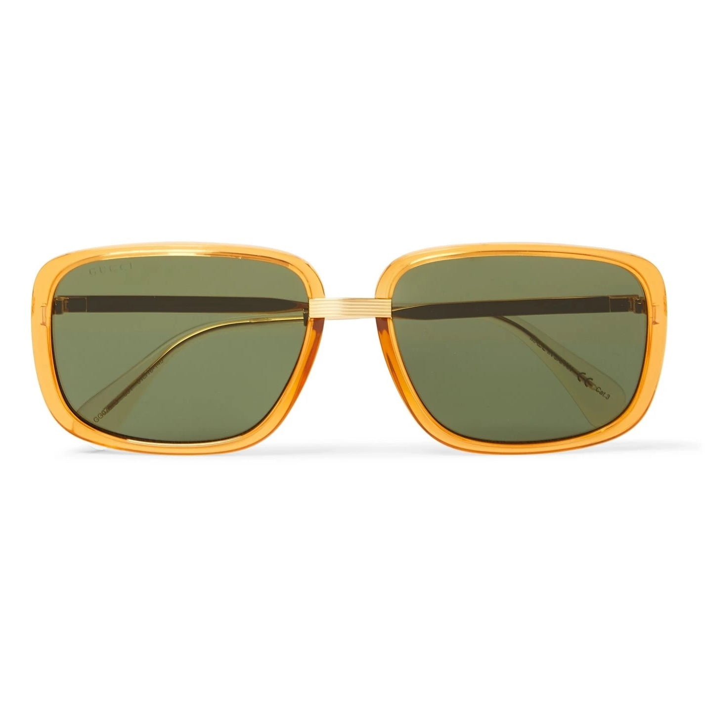 Gucci - Square-Frame Acetate Sunglasses - Gold-Tone