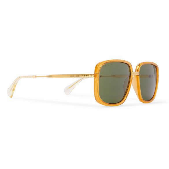 Gucci - Square-Frame Acetate Sunglasses - Side View ( Gold Accent )