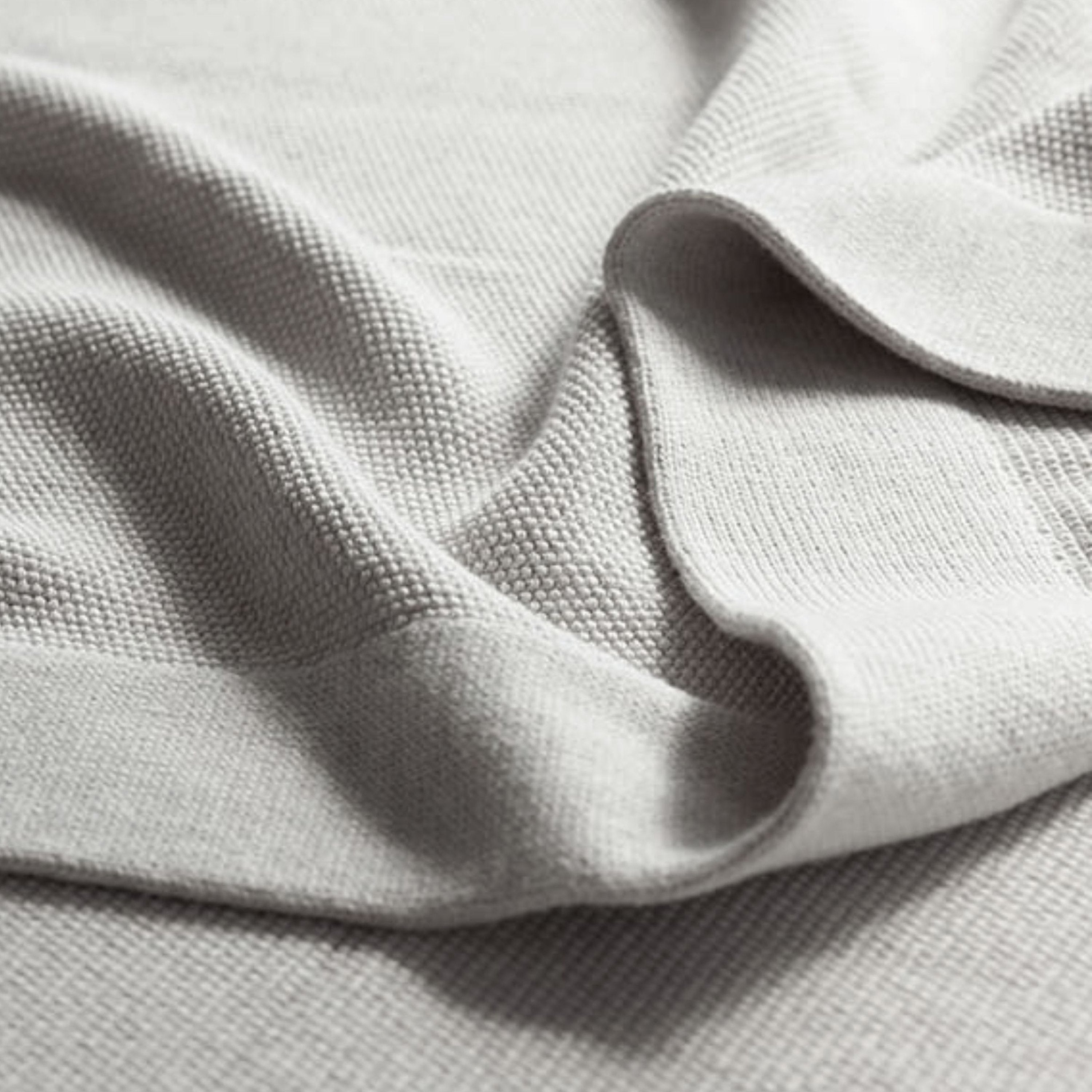 Heirloom Pure Soft Combed Cotton Blanket Throws, made from the highest quality long staple mélange cotton yarns