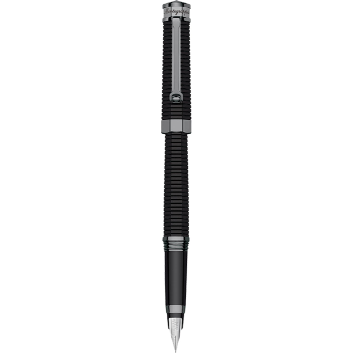 NeroUno Linea Fountain Pen, Gun Metal, Broad