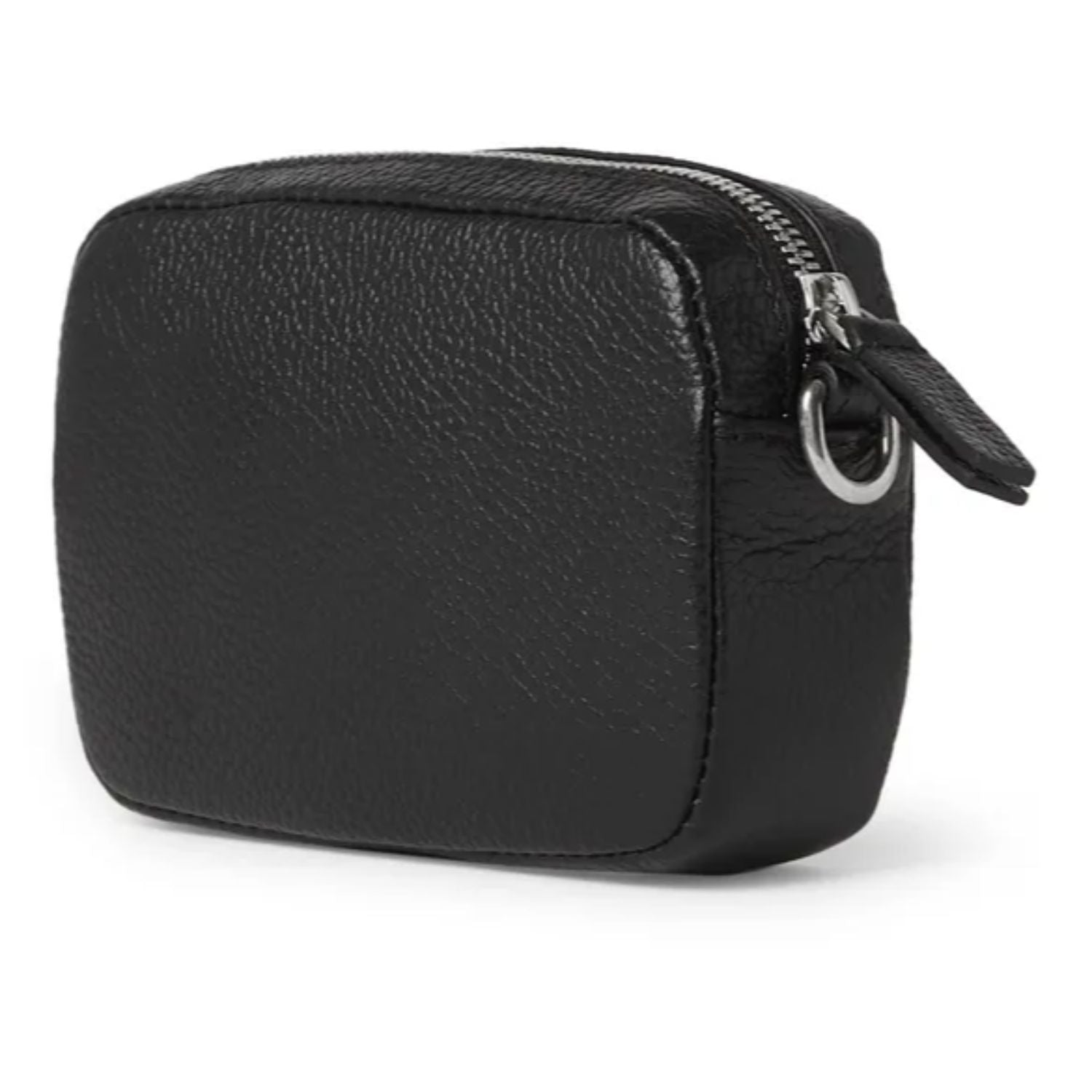 Logo-Print Full-Grain Leather Pouch