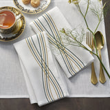 100% Pure linen Oblungo table linen with a charismatic embroidery design available in napkins and table Placemat