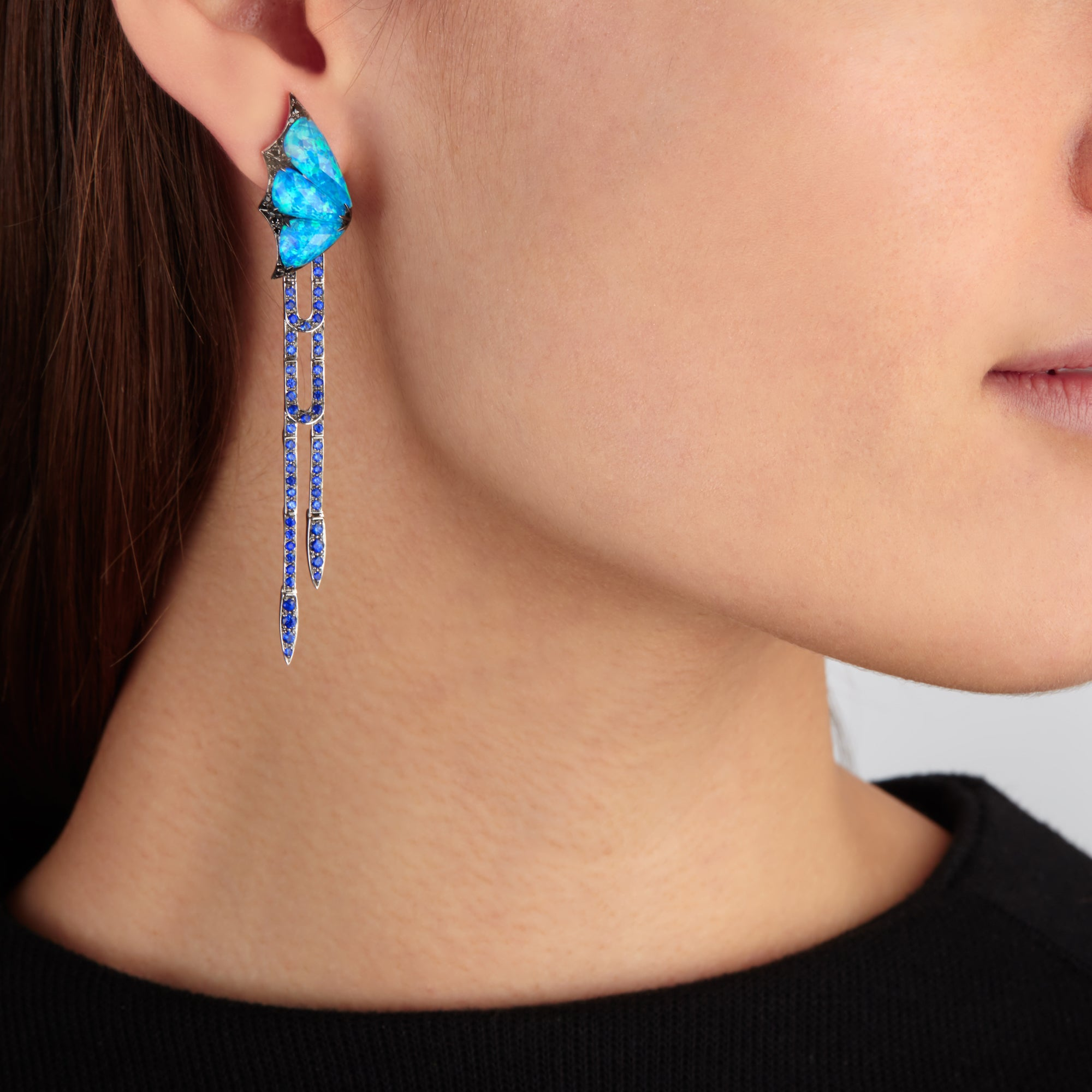 Stephen Webster - Fly By Night Crystal Haze Long Earrings