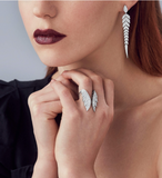 Stephen Webster - Magnipheasant Pavé Open Feather Ring