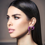 Large Earrings crafted in 18K Rose Gold Amor Collection