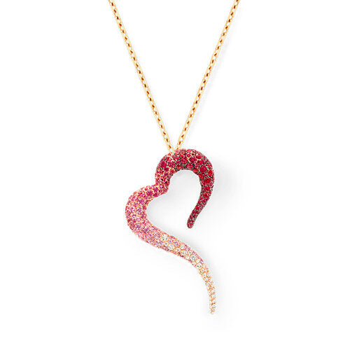 Pendant crafted in 18K Rose Gold Amor Collection
