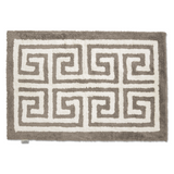 Bath Mat Entrance Simply Taupe/White