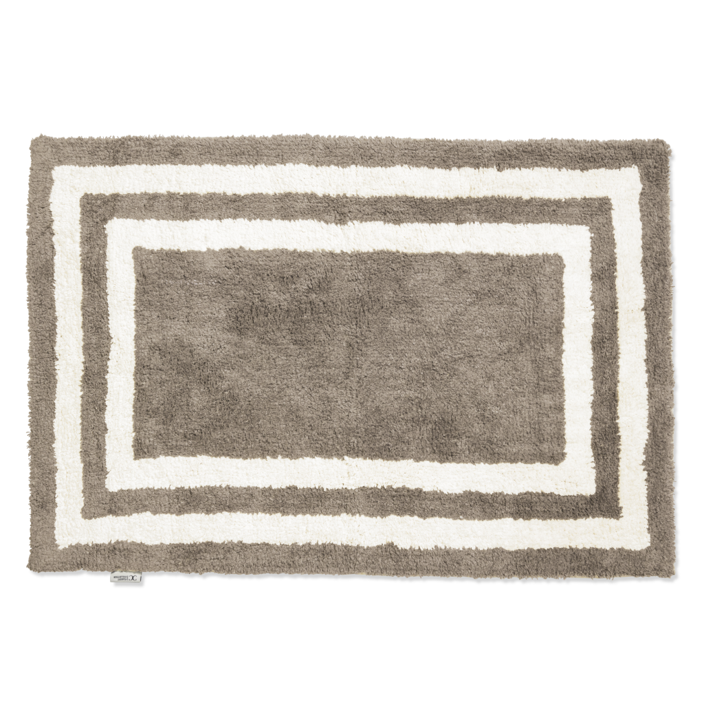 Bath Mat Firenze Simply Taupe/White