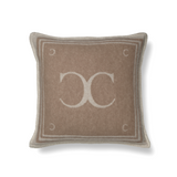 Cushion Cover Monogram Beige