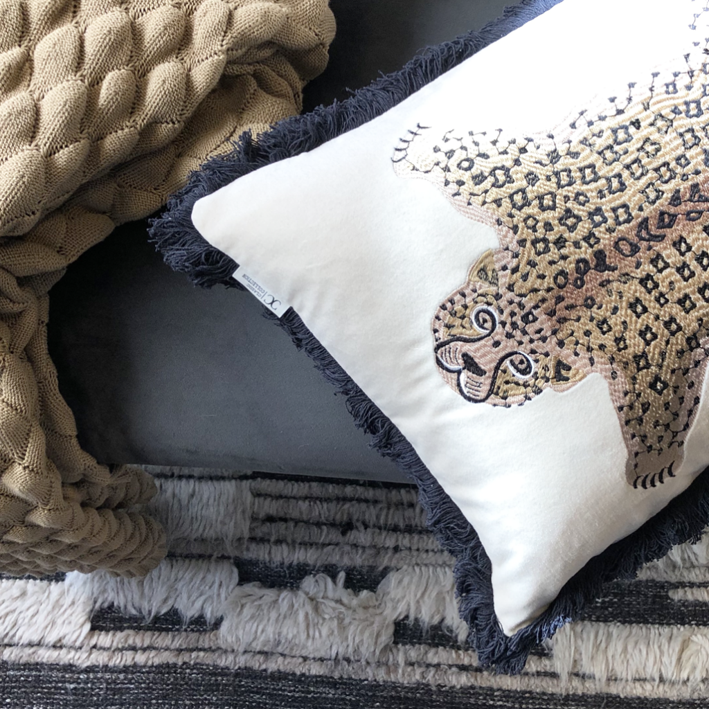 Cushion Cover Pardus White/Natural