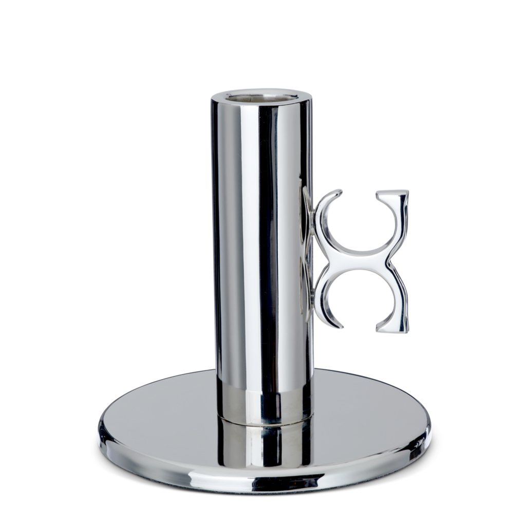 Candle Holder Monogram Nickel-Plated Brass