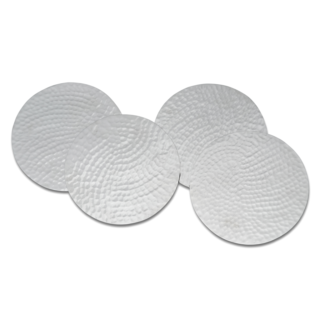 Coaster Hammered Nickel-Plated Brass