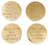 Coaster Quote Brass