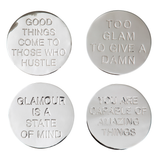 Coaster Quote Nickel Plated Brass