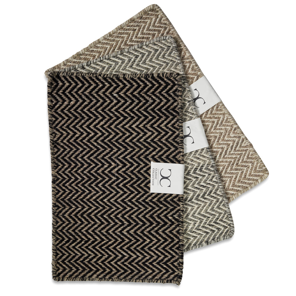 Rug Herringbone Natural/Black