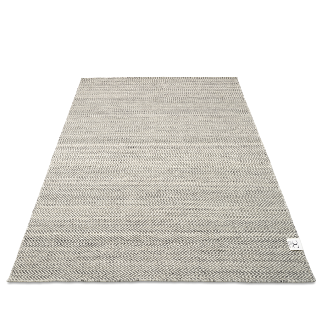 Rug Herringbone Gray/White