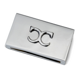Match Box Case Monogram Nickelplated Brass