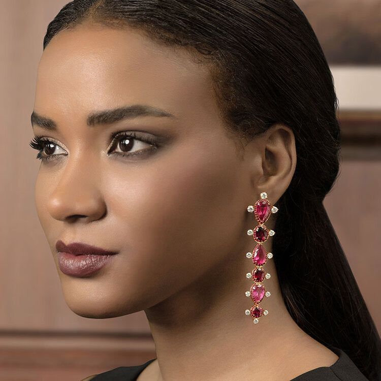 Earrings crafted 18K rose gold Out Of Africa Collection