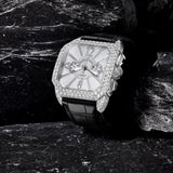 Berkeley Steel Chronograph 43 Luxury Diamond Watch for Men - 43 mm Stainless Steel - Backes & Strauss