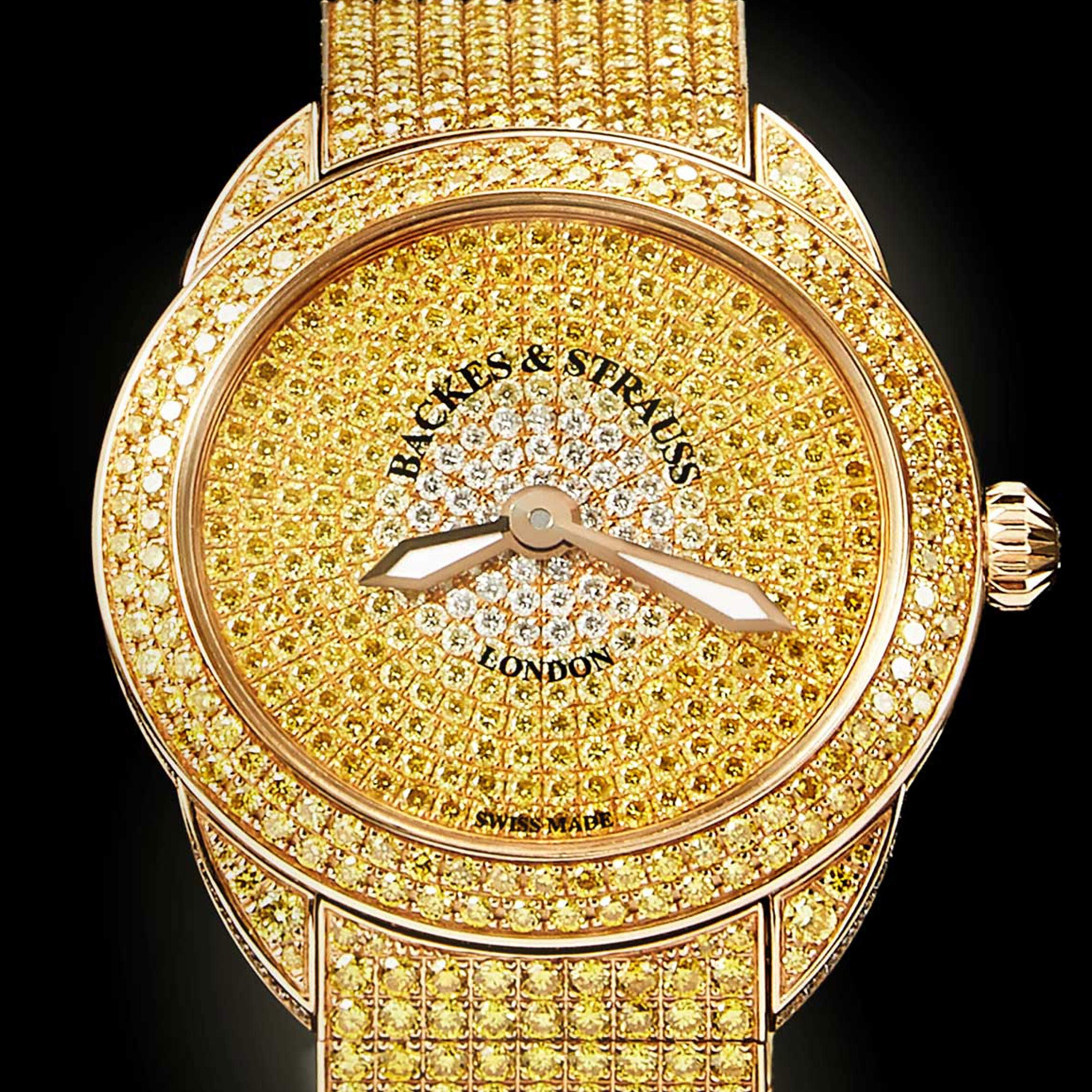 Piccadilly Renaissance Ballerina Jonquil 33 Luxury Diamond Watch for Women - 33 mm Rose Gold - Backes & Strauss