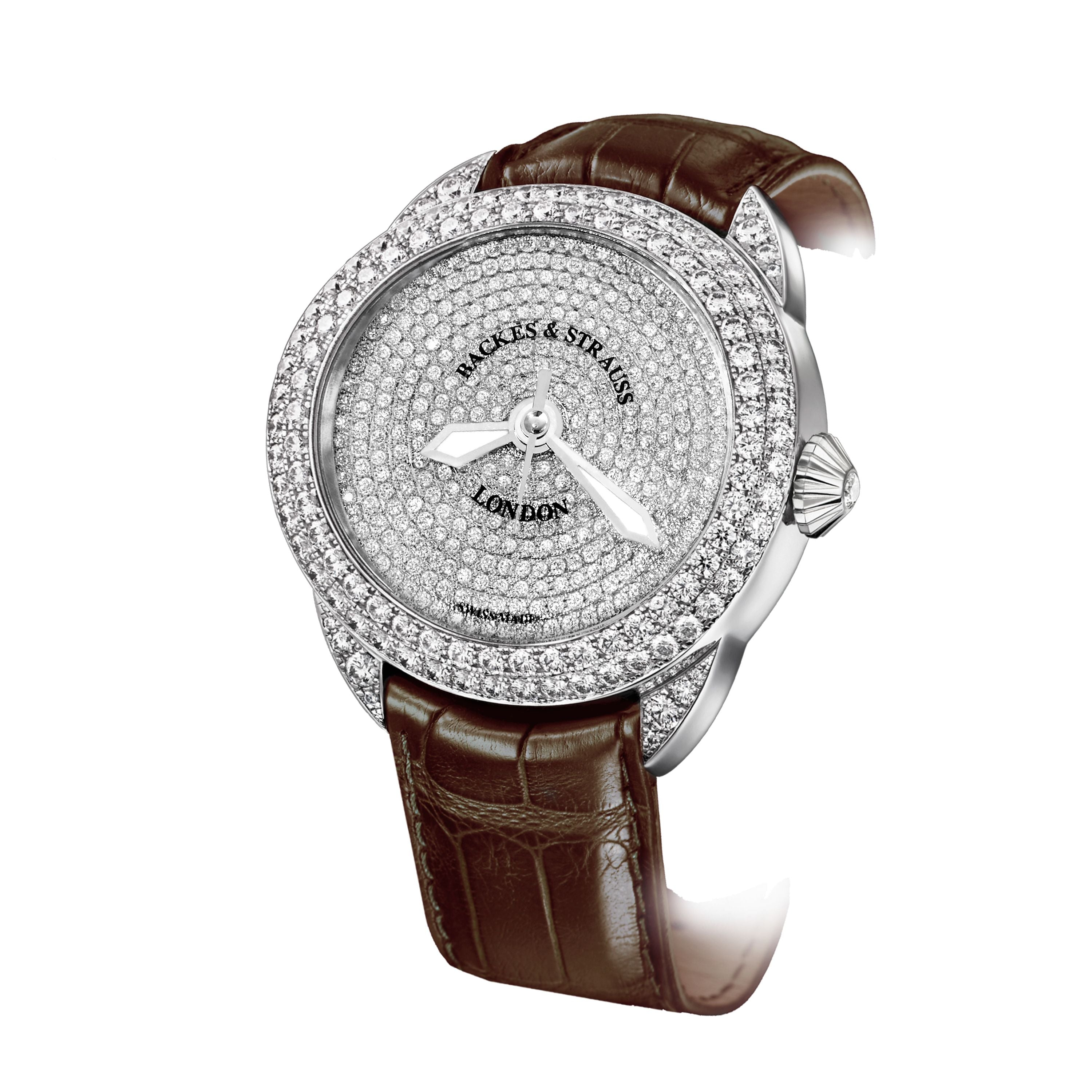 Piccadilly 45 Luxury Diamond Watch for Men and Women - 45 mm White Gold - Backes & Strauss