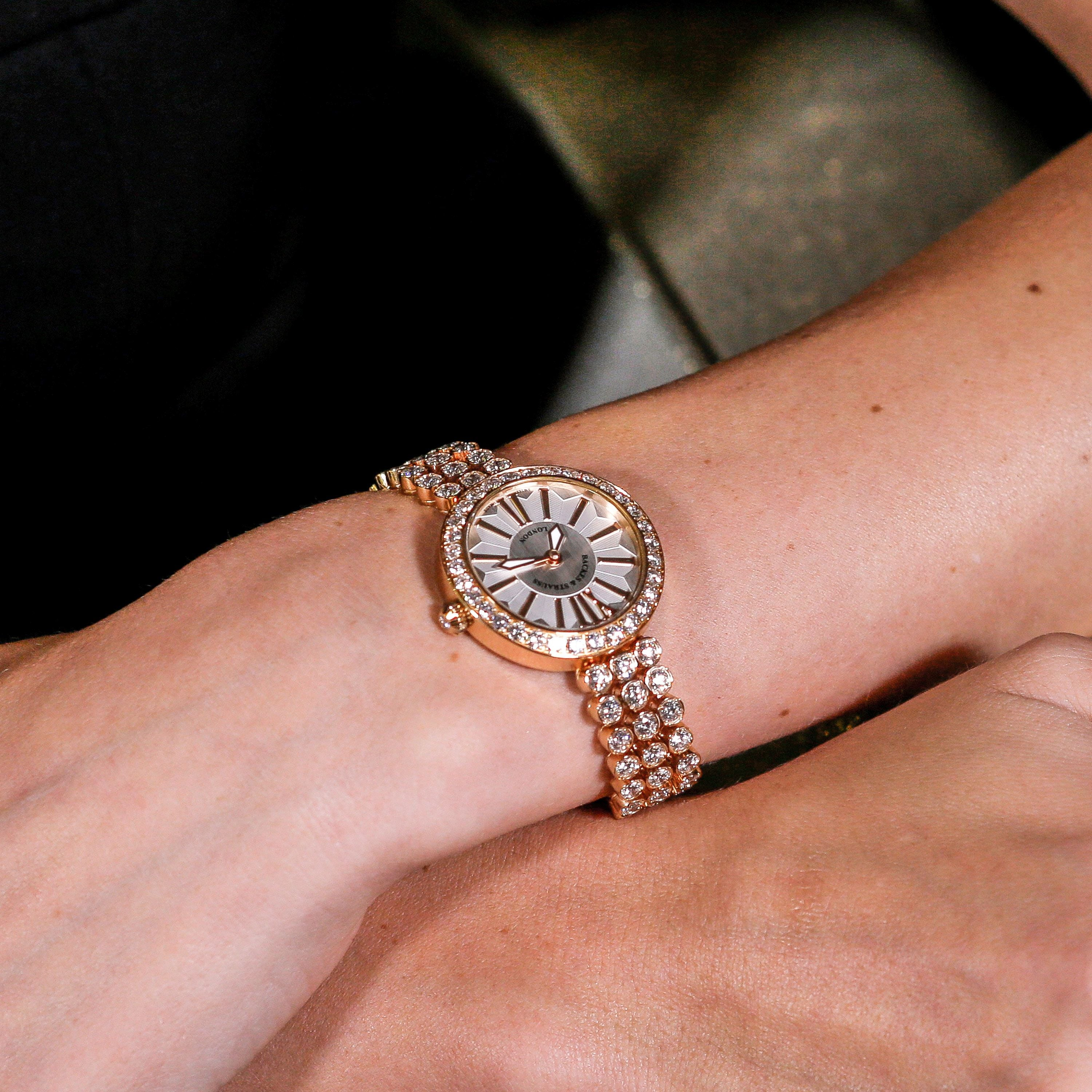 Piccadilly Duchess 33 Luxury Diamond Watch for Women - 33 mm Rose Gold - Backes & Strauss