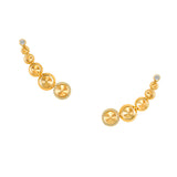 Earrings crafted 18K yellow gold Sahara Collection
