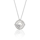 Pendant crafted in 18K White Gold The Nile Collection