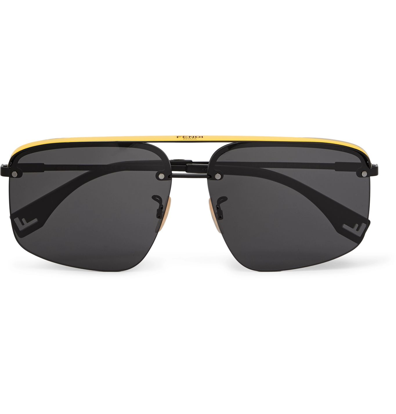 Aviator-Style Metal and Acetate Sunglasses