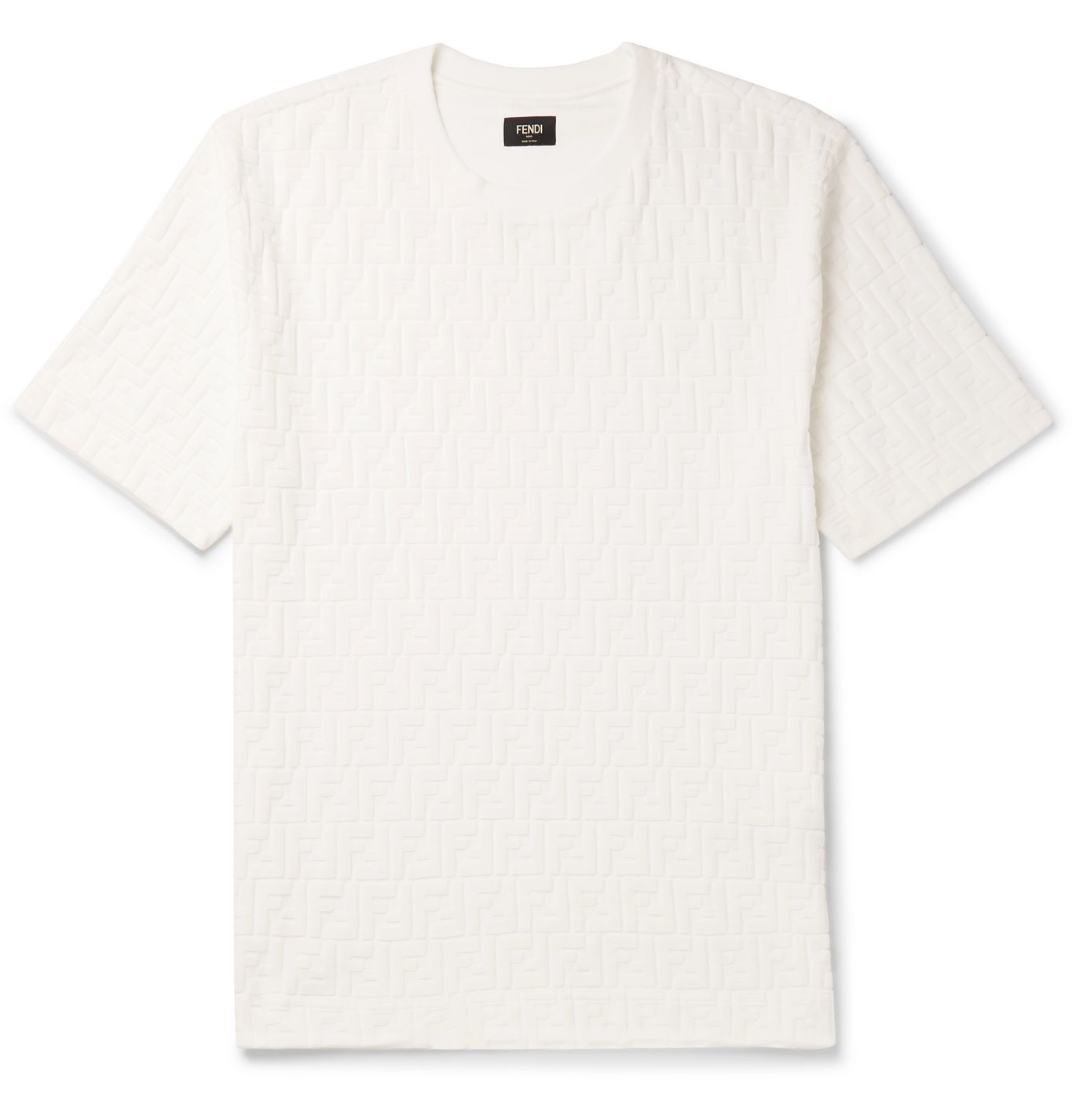 Logo-Flocked Cotton-Blend Jersey T-Shirt