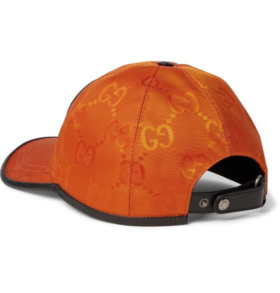 Leather-Trimmed Logo-Appliquéd Monogrammed ECONYL Baseball Cap