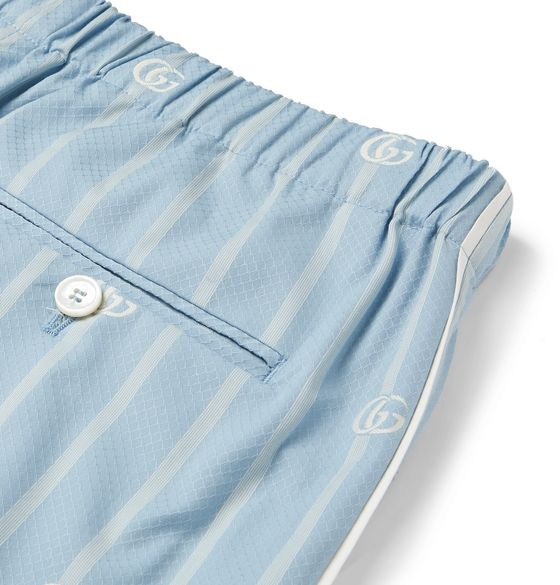 Striped Cotton-Jacquard Bermuda Shorts