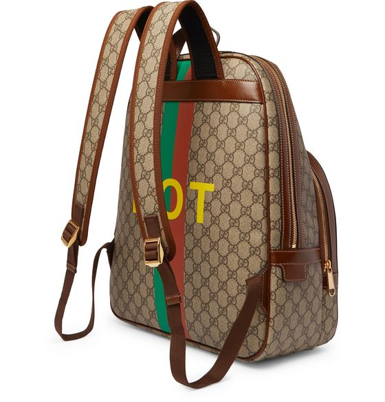 Logo-Appliquéd Leather-Trimmed Printed Monogrammed Coated-Canvas Backpack