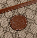 Merida Leather-Trimmed Monogrammed Coated-Canvas Pouch