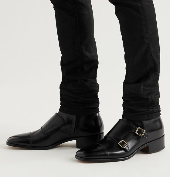 Leather Monk-Strap Boots