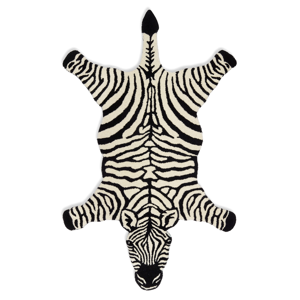 Rug Zebra Black/White