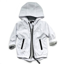 Load image into Gallery viewer, Little Bipsy White Zip-up Windbreaker