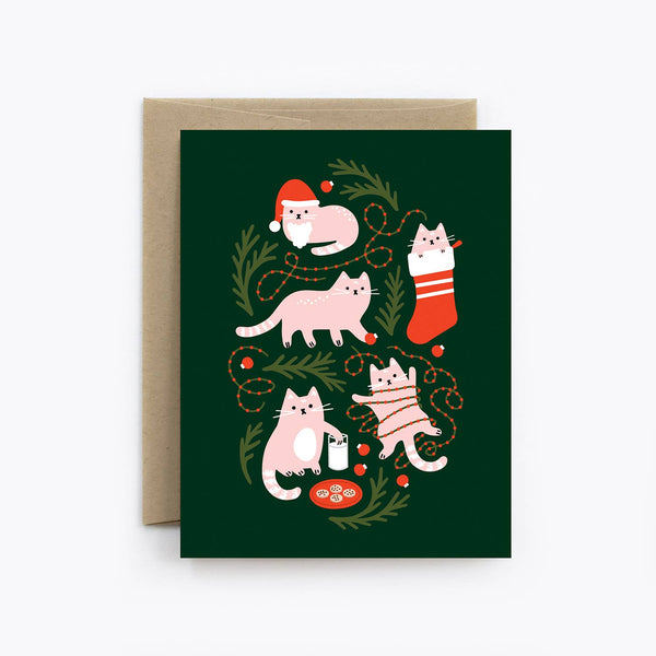 The Detroit Card Co. - Christmas Cats Card