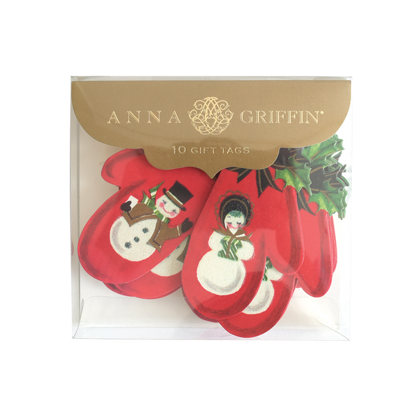 Anna Griffin - Gift Tags Holiday Snowman Mittens