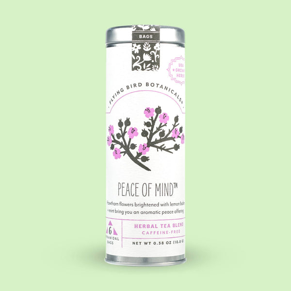 Flying Bird Botanicals - Peace of Mind – 6 Tea Bag Tin