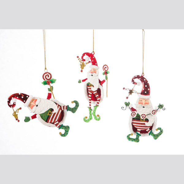 DTHY! - 3 Assorted Kringles Santa Lollipop Ornament