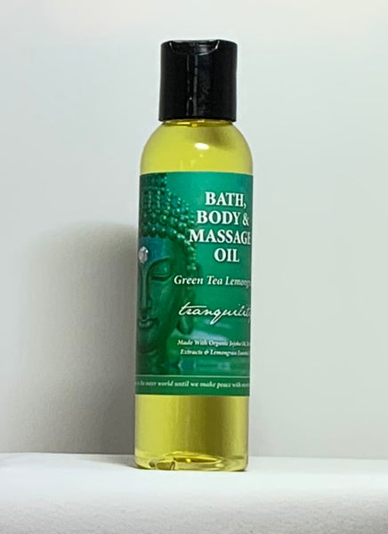 Natural Selection Bath and Body - Tranquility Green Tea Lemongrass Buddhalicious 4 oz Bath, Body and Massage Oil