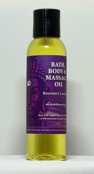 Natural Selection Bath and Body - Harmony Rosemary Lavender Buddhalicious 4 oz Bath, Body and Massage Oil