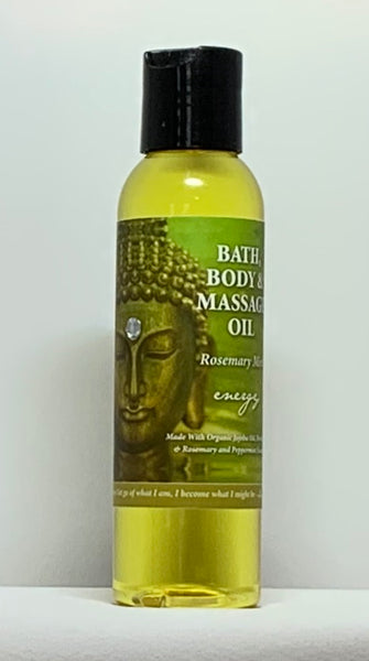 Natural Selection Bath and Body - Energy Rosemary Mint Buddhalicious 4 oz Bath, Body and Massage Oil