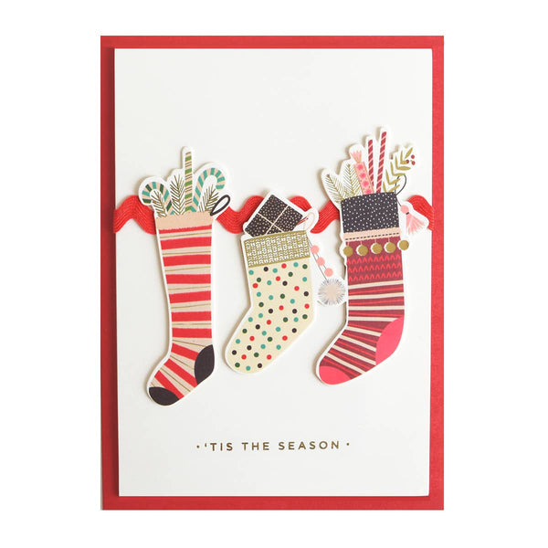 Anna Griffin - Stockings Boxed Holiday Card 10 CT