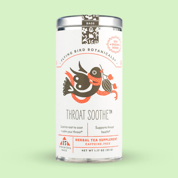 Flying Bird Botanicals - Throat Soothe – 15 Tea Bag Tin